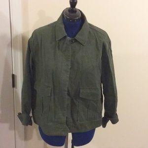 GAP green cotton utility jacket xxl